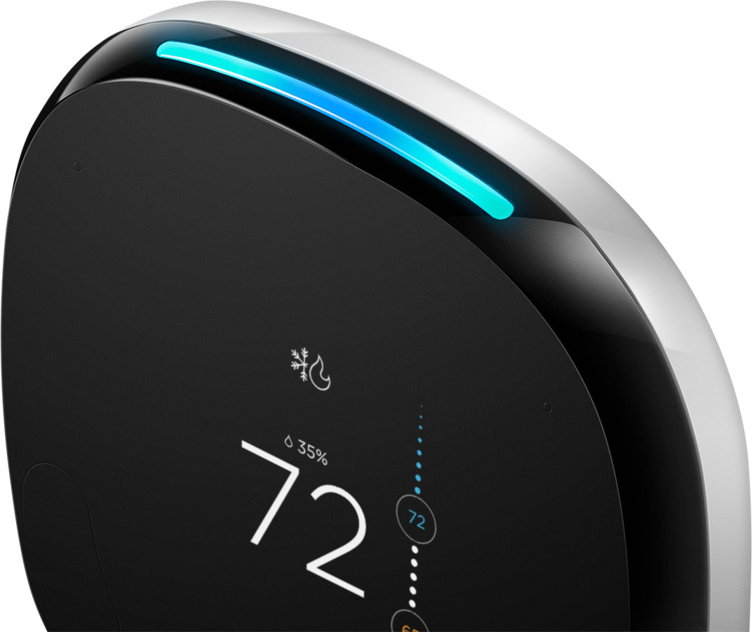 Voice-enabled smart thermostat with Room Sensor | ecobee4