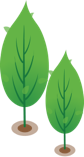 Illustration of healthy green trees