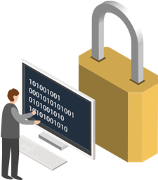 illlustration of a secure lock on your data