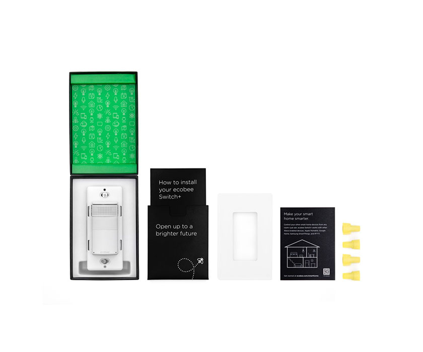 Smart light switch with built-in Alexa   ecobee Switch+