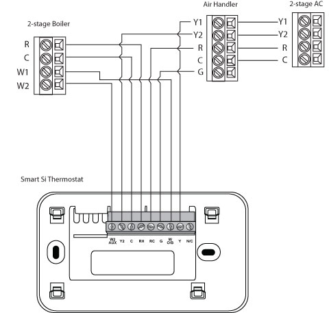 2stage_boiler_airhander_2stage_ac_si1 air handler wiring diagram efcaviation com Basic Electrical Wiring Diagrams at edmiracle.co