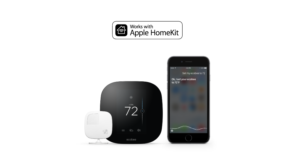 ecobee works with  Apple HomeKit