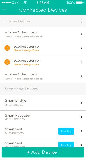 How To Connect Your Ecobee3 With Keen Smart Vents